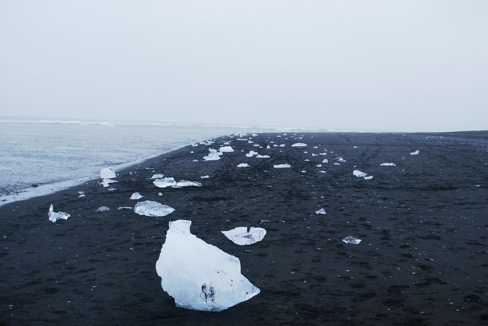 The beach for wayward ice floes.