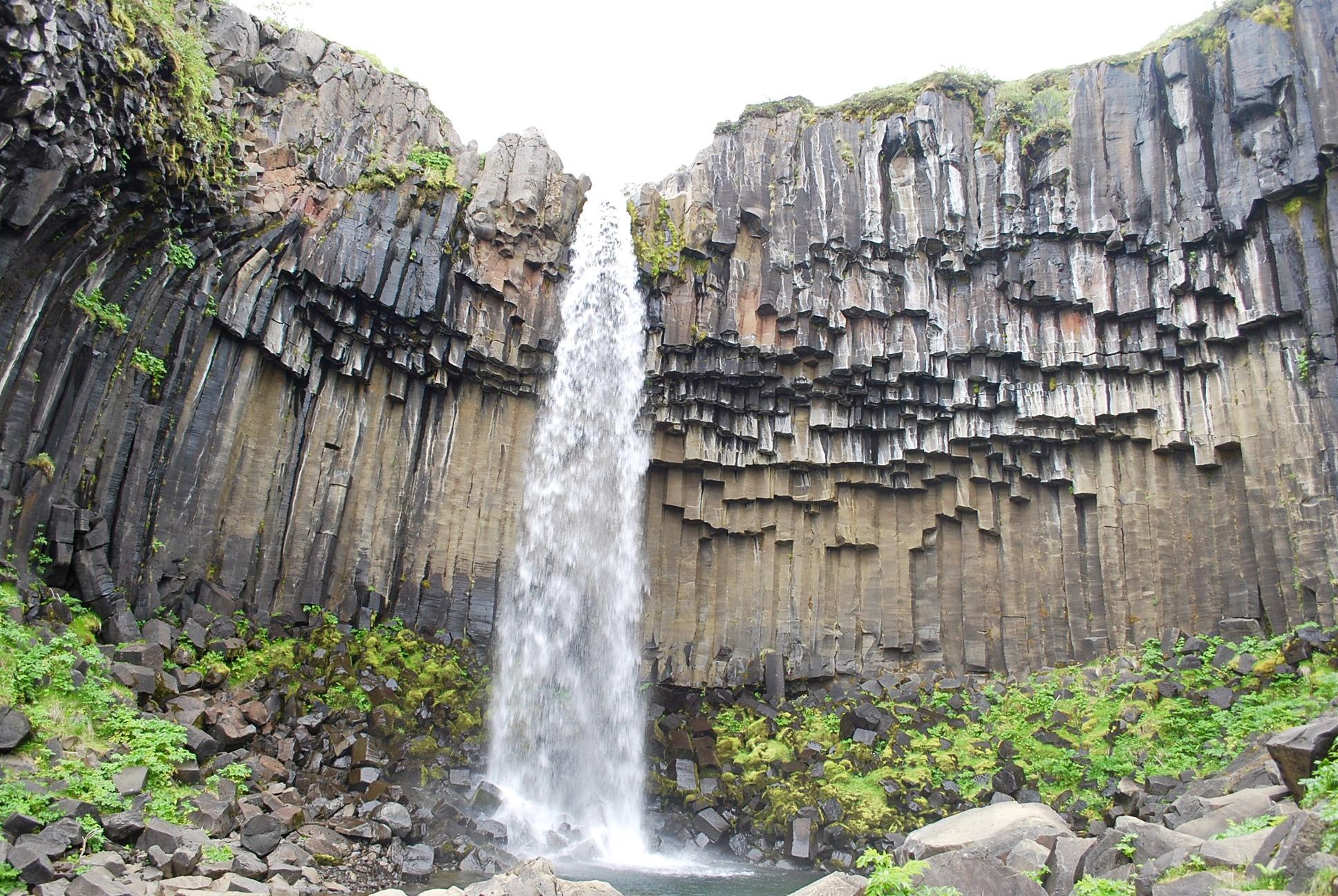 Svartifoss, Abitua Falls' bigger cousin